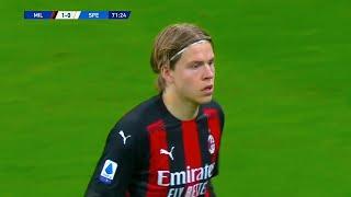 Jens Petter Hauge Debut for AC Milan