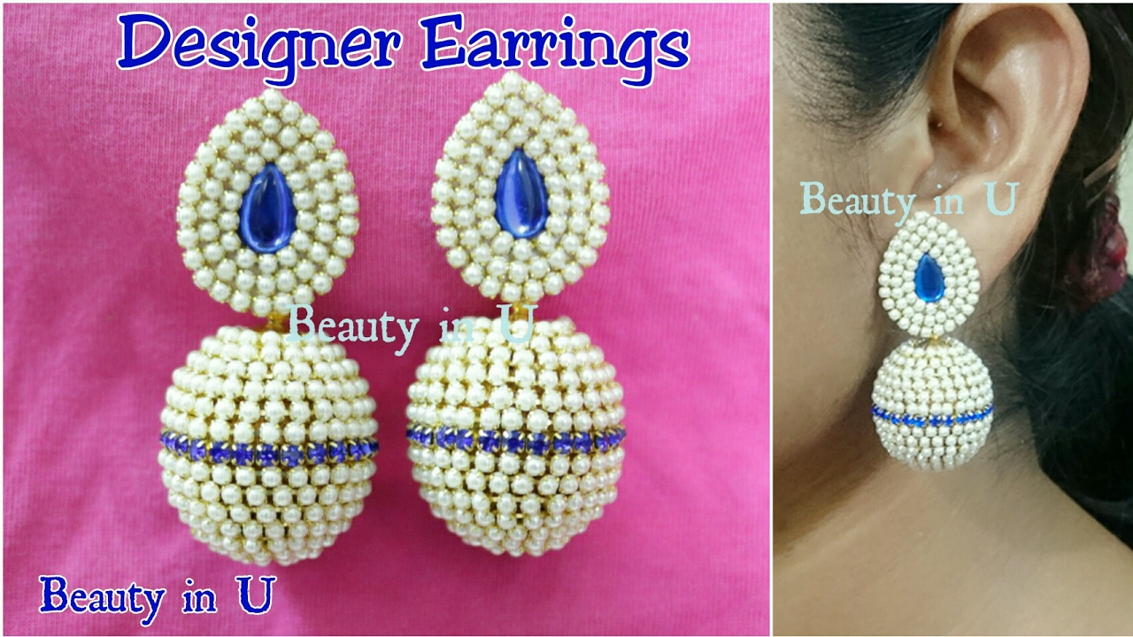 How to make Designer Bridal Silk Thread Earrings at Home ...
