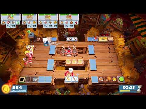 Overcooked 2 [Carnival of Chaos] Level 3-2 - 2 players - 4 stars |