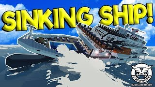 SINKING ROYAL CRUISE SHIP ESCAPE! - Stormworks: Build and Rescue Gameplay - Sinking Ship Survival