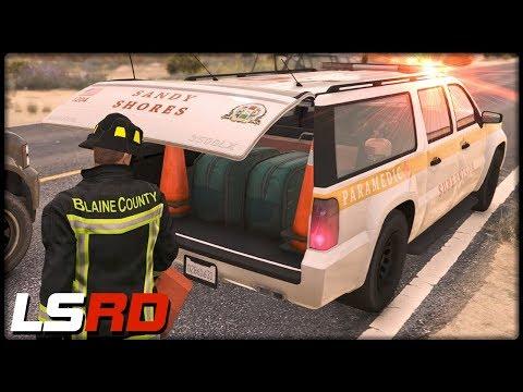 GTA 5 LSRD | Der Hund mit dem Führerschein - Deutsch - Grand Theft Auto 5 Los Santos Rescue Division thumbnail