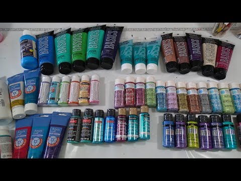 I went shopping for paints!