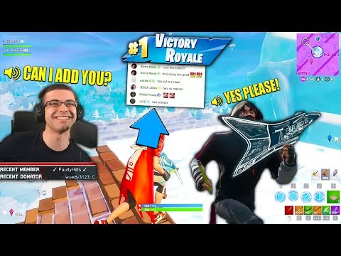 My chat made me add this kid because he was a Pro Fortnite Player!