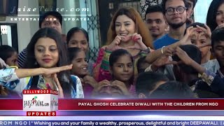 Actress Payal Ghosh Celebrate Diwali with the Children form NGO