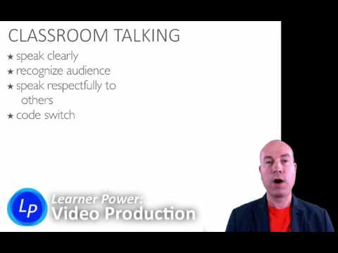U1a2: Speaking Skills in a Video Production Classroom