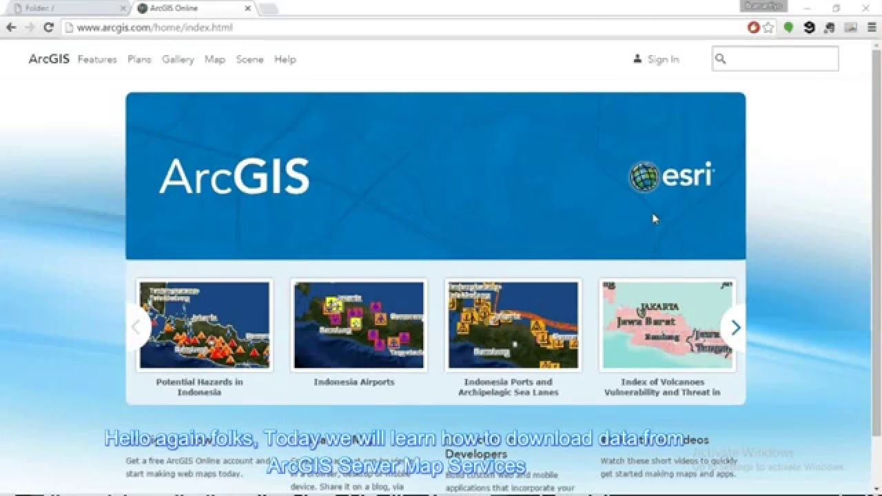Download ArcGIS REST Map Services Data using ArcGIS com