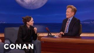 Ellen Page Tries Out Her Jokes On Conan  - CONAN on TBS