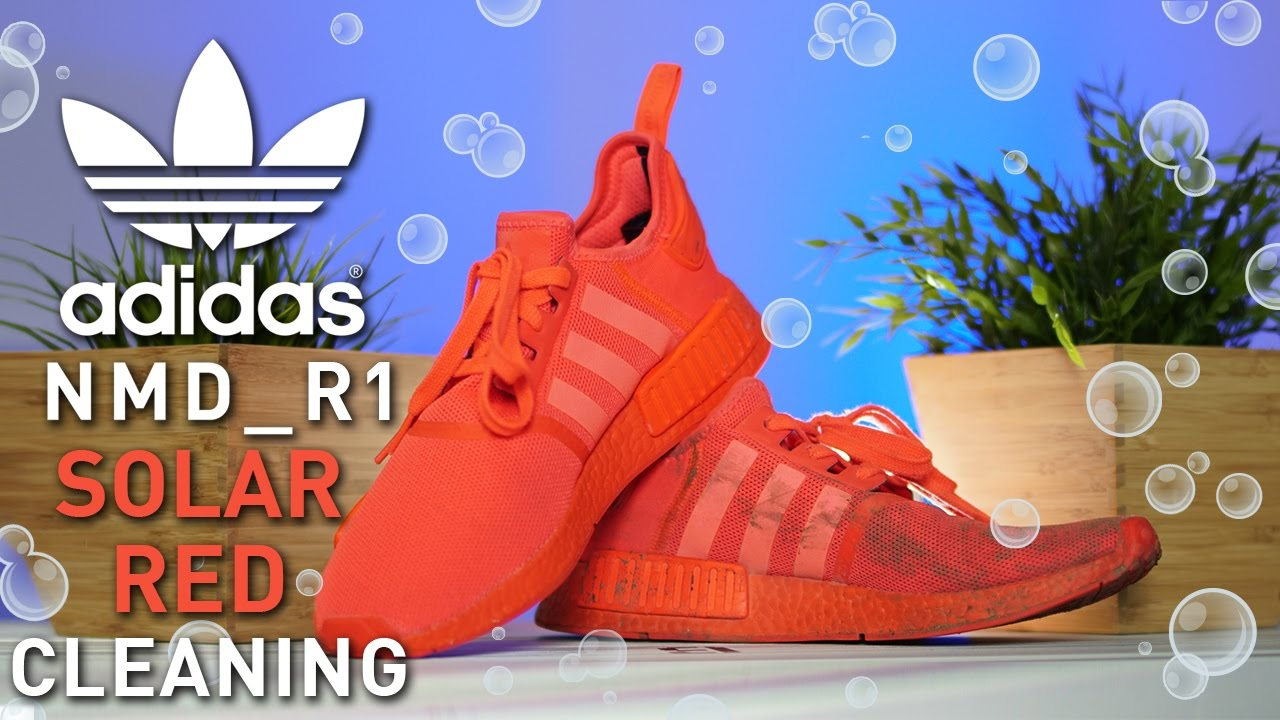 How to clean Adidas NMD R1 Solar Red's
