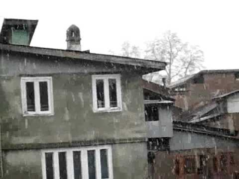 snowing in Srinagar! kashmir headlines  feb/2016 arshid mir