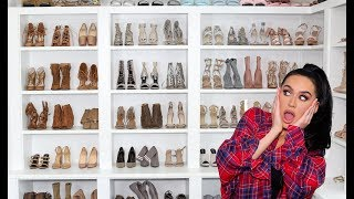 ORGANIZING & DECLUTTERING MY SHOE CLOSET! Carli Bybel