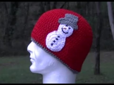 Snowman Applique Crochet Tutorial Great For Hats Youtube