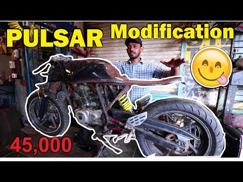 PULSAR INTO CAFE RACER FULL MODIFICATION   BSB VLOGS