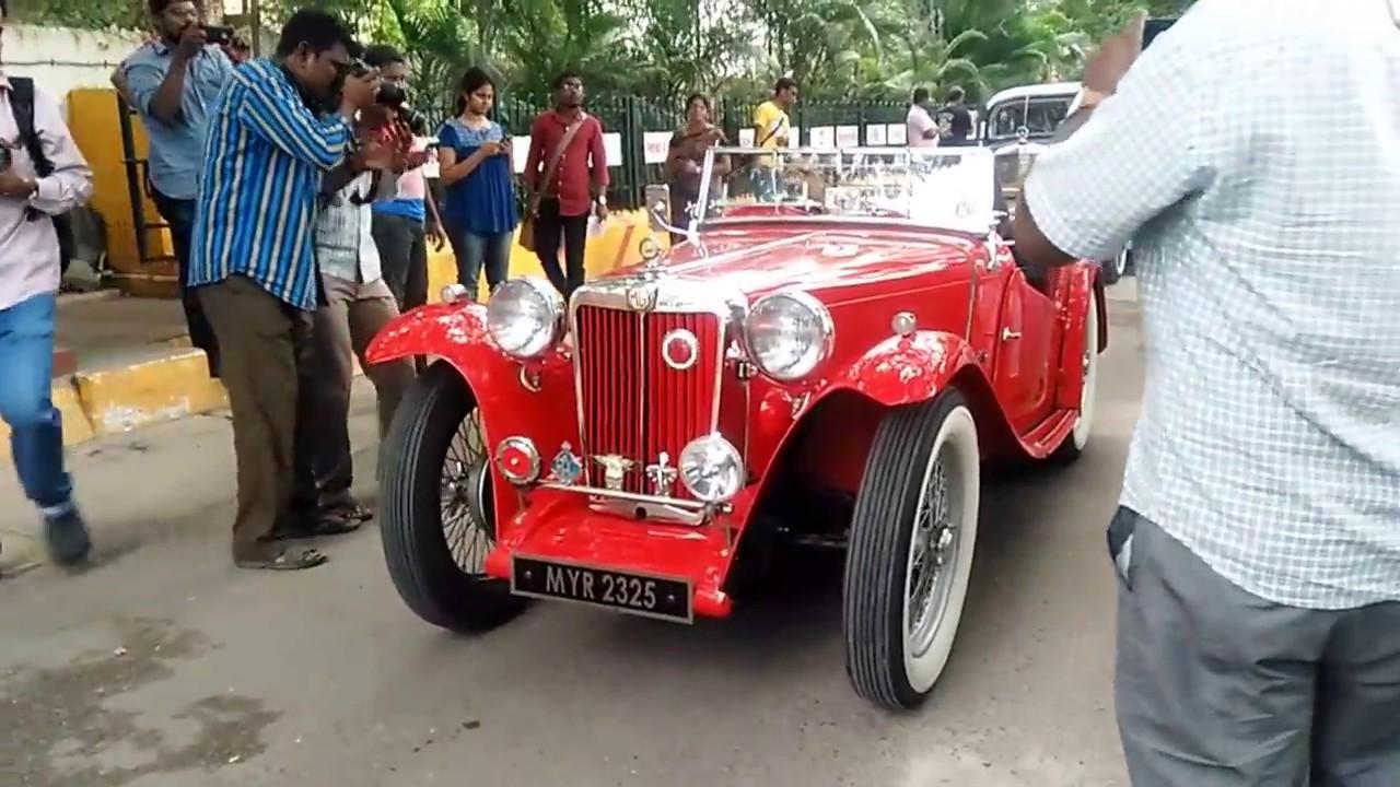 Chennai vintage cars | Old car rally - madras 2016 - YouTube