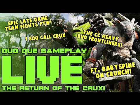 Paragon: The CRUX Returns! | Full LIVE Gameplay! (GRUX Jungle/Duo Que)