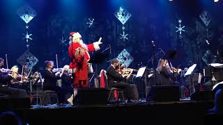 Santa Claus on stage for Sleigh Ride