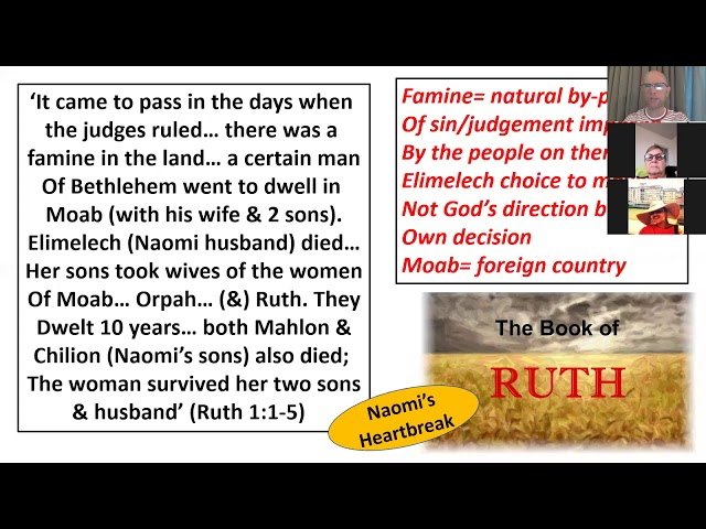 Bible Study: Book of Ruth: session 1