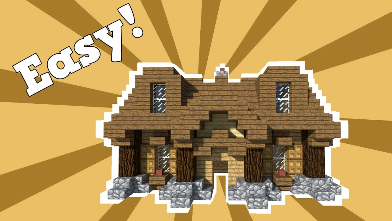 Minecraft Easy Wooden House Tutorial