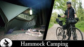 Bikepacking - Hammock Camping in a rain storm!
