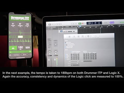 Drummer ITP - verifying measurement accuracy with the Logic X metronome