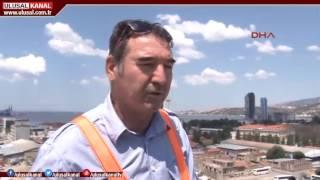 Türkiye'nin en uzun yangın ve kurtarma aracı İzmir itfaiyesinde hizmete girdi