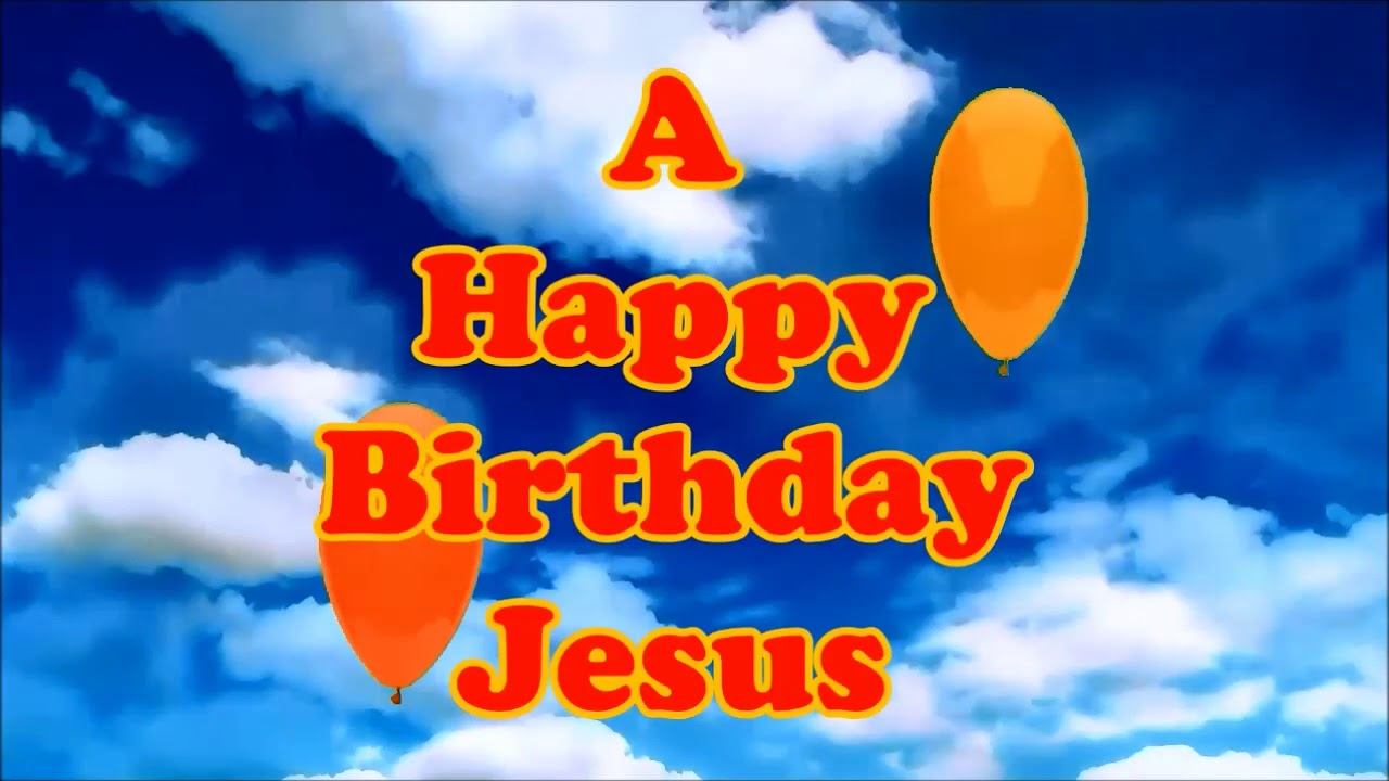 Jesus Happy Birthday Floating Balloons