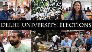 Delhi university - elections 2018 public interaction| ABVP - NSUI - CYSS - AISA | DUSU - 2018