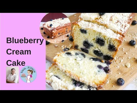 Blueberry Cream Cake with Crumb Topping  Blueberry Crumb Cake