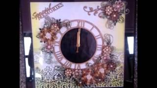 Handmade Quilling wall clock idea....!!!
