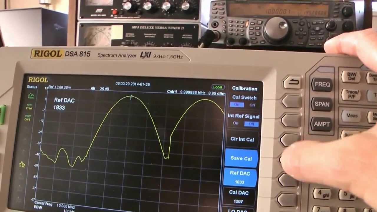 dsa 815 calibration