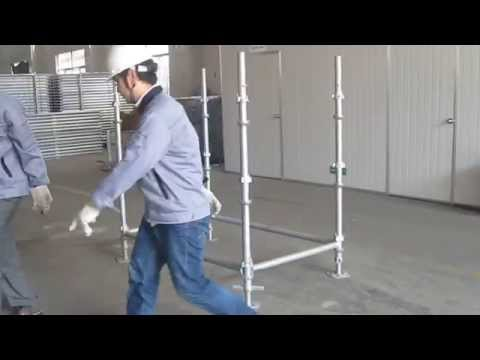 How to install cuplock scaffolding assembly