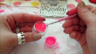 DIY color acrylic powder 2 (pigments and glitter)