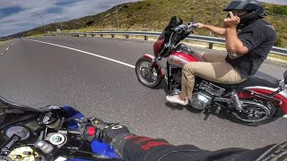 Harley Davidson rider can't control himself! - Sizzler