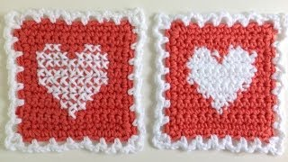 Instarsia Crochet Vs. Cross Stitch Crochet -  Free Cross Stitch Pattern By Maggie Weldon