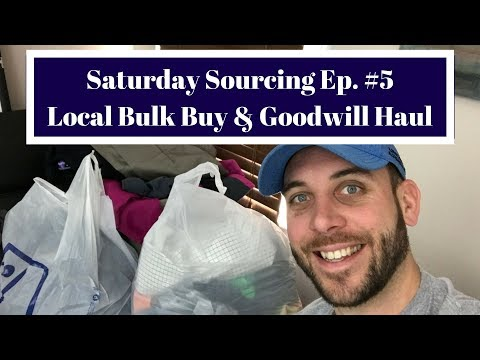 Saturday Sourcing Episode #6 - Local Bulk Buy & Goodwill Clothing Haul to sell on eBay!