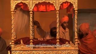 Sikh pilgrims worship during Kumbh Mela, Allahabad