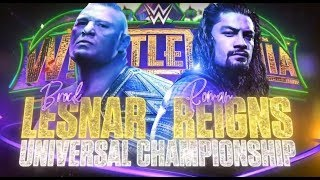 Download Video WRESTLEMANIA 34 - BROCK LESNAR VS. ROMAN REIGNS WWE Universal Championship Match | WWE 2K18 MP3 3GP MP4