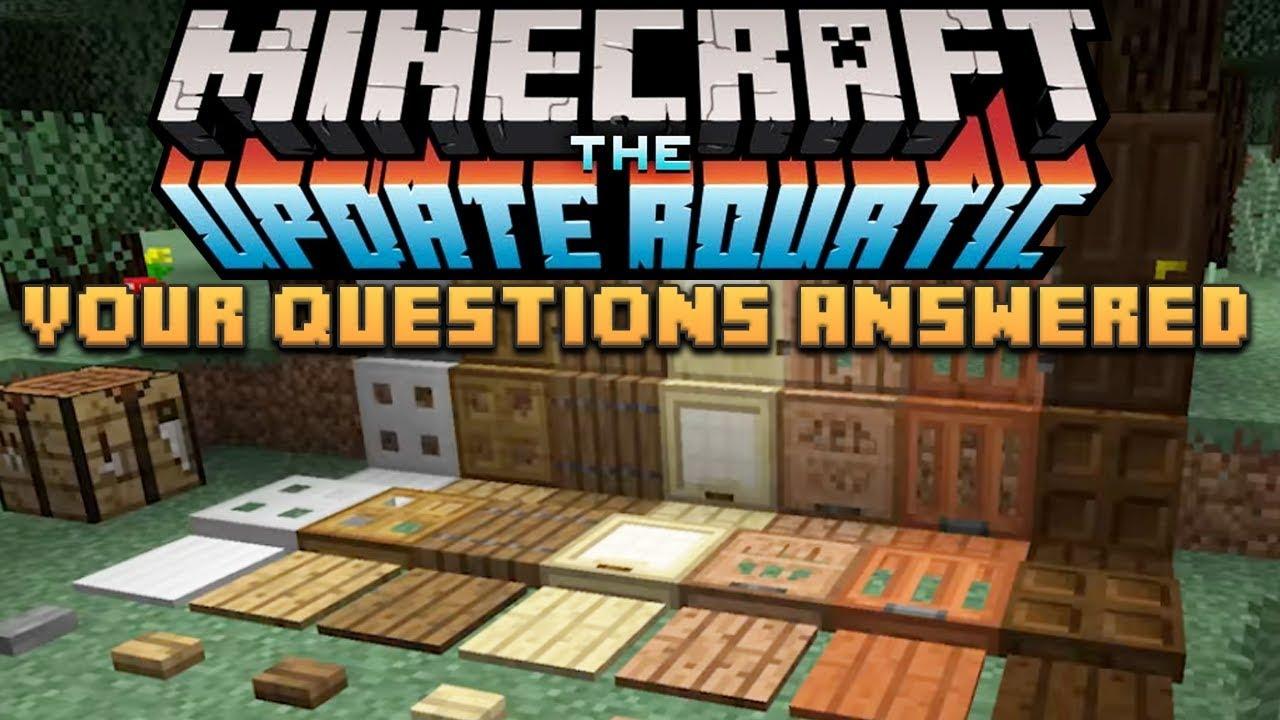 minecraft update aquatic