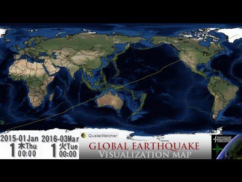 2015-2016 Global Earthquake Visualization Map