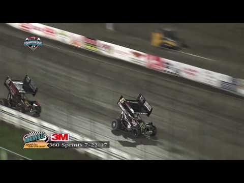 Knoxville Raceway 360 Highlights - July 22, 2017