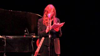 Patti Smith - The Tiger (by William Blake) (Performed at the Wadsworth Atheneum)