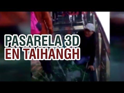 Nueva pasarela 3D en Taihang - China, Asusta a los turistas