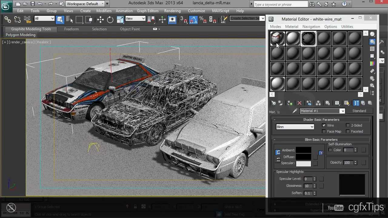3ds Max Tutorial Clay Wireframe Render Mental Ray Youtube