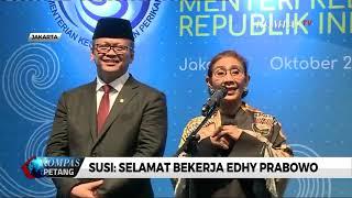 Teteskan Air Mata, Susi: Selamat Bekerja Edhy Prabowo