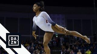 Simone Biles Earns Perfect Score On Balance Beam