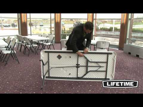 Lifetime 6 Ft. Commercial Folding Tables & Chairs Combo