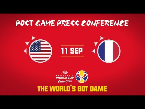 USA v France - Press Conference - FIBA Basketball World Cup