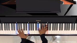 Chaudhavin Ka Chand | Pro Piano Tutorial | www.10MagicalFingers.com