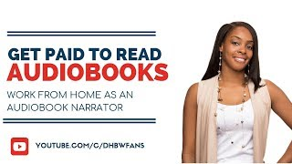 Today's video: get paid to read books online as an audiobook narrator have a nice speaking voice? is ideal part-time work from home ...