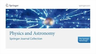 Physics and Astronomy – Springer Journal Collection