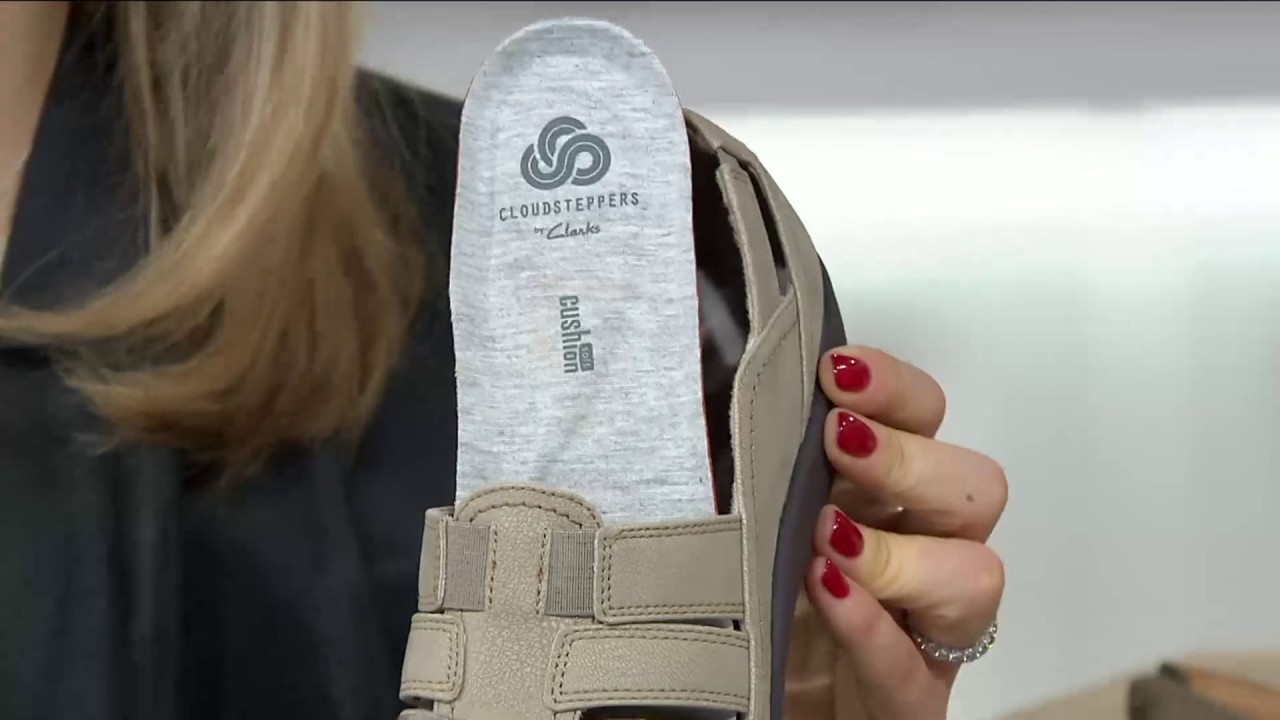 8c210636576 Clarks Cloud Steppers Slip-on Shoes - Sillian Stork on QVC - YouTube